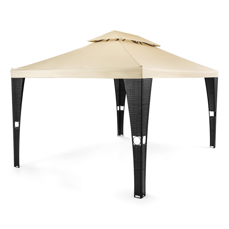 Blumfeldt Avignon Carpa para jardín 3x4m (Cenador estructura mimbre ...