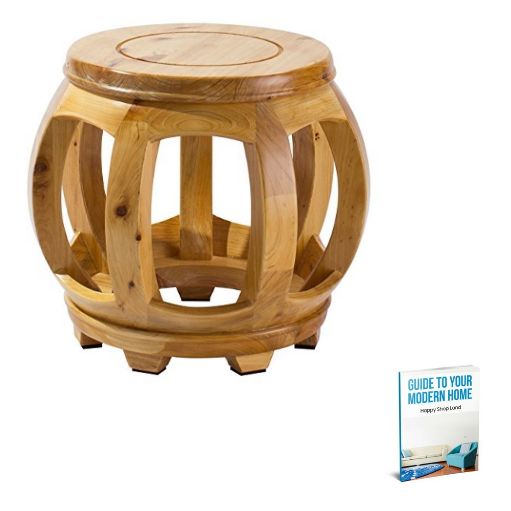 Minimalistic Coffee Table, Wooden Material, Waterproof, Anti-Slip Surface, Light Wood Color, Round Shape, Lightweight, Ideal For Indoor Spaces, Stylish Design, Sturdy And Durable Construction & E-Book by S.N