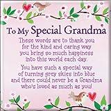 Heartwarmers To My Special Grandma Square Fridge Magnet - Gift Idea