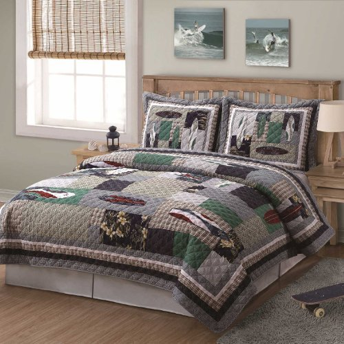 Surfing USA Quilt with Shams Size: Twin