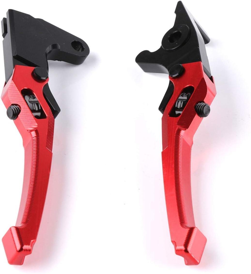 Color : Black Aluminiumlegierung Motorrad Bremsgriff 3D Verstellbare Handhebel Handbremshebel Motorrad-Bremsen-Kupplungs Motorrad-Zubeh/ör