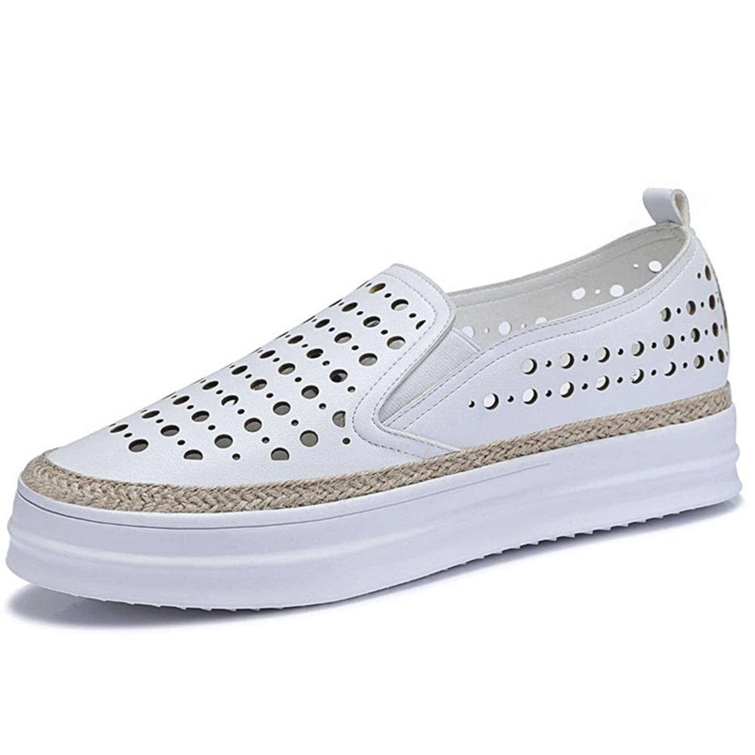 high platform shoes/Ladies cut lazy breathable shoe