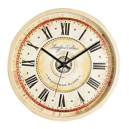QXbecky 12 Pulgadas Antiguo número Romano Reloj Mesa Retro Arte ...