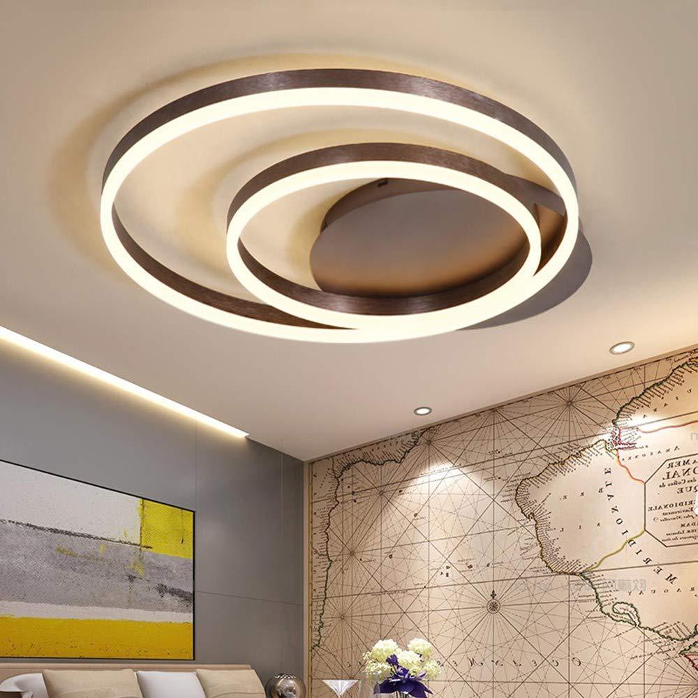 5151BuyWorld Lampe Nordic Ringe Art Moderne Led-Deckenleuchten Für Wohnzimmer Schlafzimmer Plafon Hauptbeleuchtung Deckenleuchte Startseite Beleuchtung Top Qualität {Dimmbar & L90  W80cm}