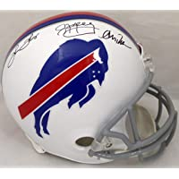 $499 » Jim Kelly, Thurman Thomas & Andre Reed Autographed Buffalo Bills Full Size White Helmet Beckett BAS