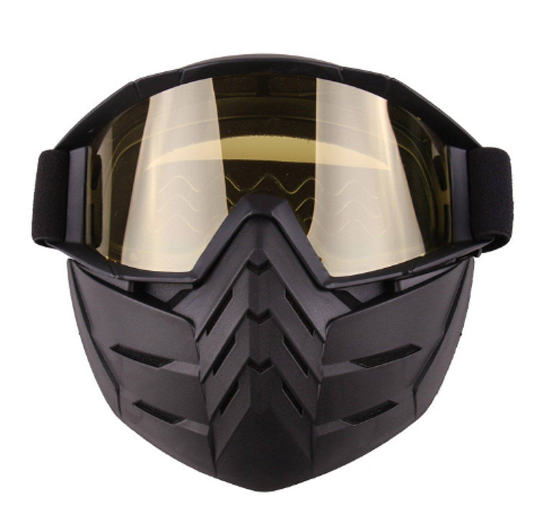 Sonnenbrille-entfernbare Maske Harley-Art-Motorrad-Reitmaske mit Schutzbrillen öffnen Gesichts-Motorrad-Sturzhelm-Spiegel-Objektiv schützen Polsterungs-Sturzhelm