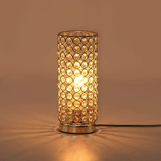 Lámpara de mesa de cristal,Fy-Light Mesita de noche, sala de ...