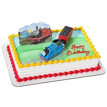 Amazon DecoPac Thomas And Coal Car Deco Set Childrens Cake Decorations Kitchen Dining