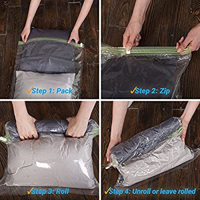 "Travel Space Saver Bags for Clothes 14x20"" - Pack of 15"
