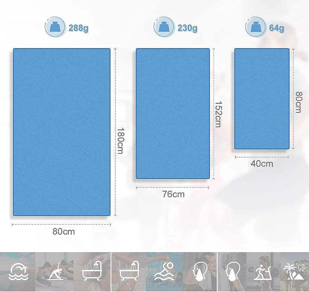 Glymnis Mikrofaser Handt/ücher schnelltrocknend Sporthandtuch Strandhandtuch Viele Gr/ö/ßen und Farben saugf/ähig weich f/ür Sport Yoga Sauna Fitness und Strand