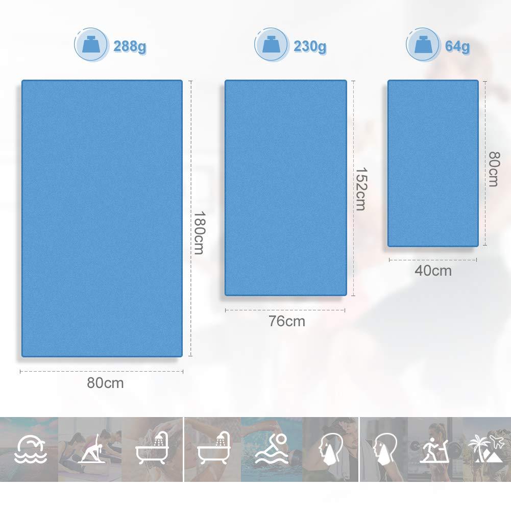 Verpackung MEHRWEG Glymnis Mikrofaser Handt/ücher Sporthandtuch Strandhandtuch Viele Gr/ö/ßen und Farben f/ür Sport Yoga Sauna Fitness und Strand schnelltrocknend saugf/ähig weich