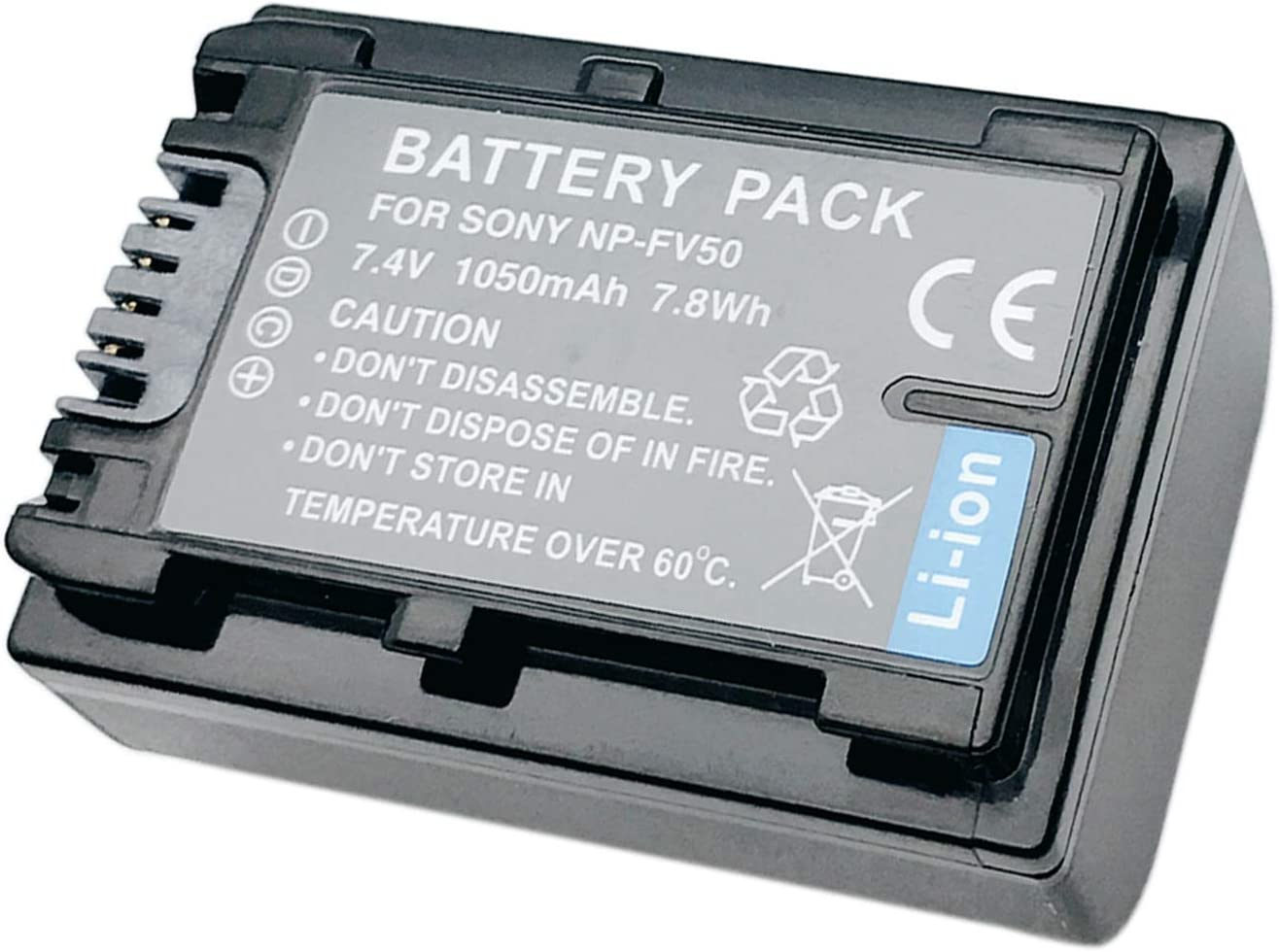 HDR-CX625E HDR-CX630VE Handycam Camcorder HDR-CX620E Battery 2 Pack for Sony HDR-CX610E
