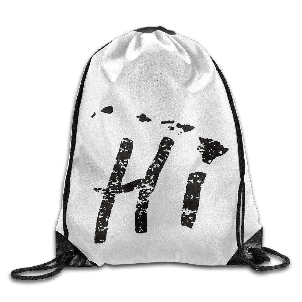 ハワイHi諸島Americanファッションクール巾着バックパック文字列バッグ B01KO0B5HW   One_Size