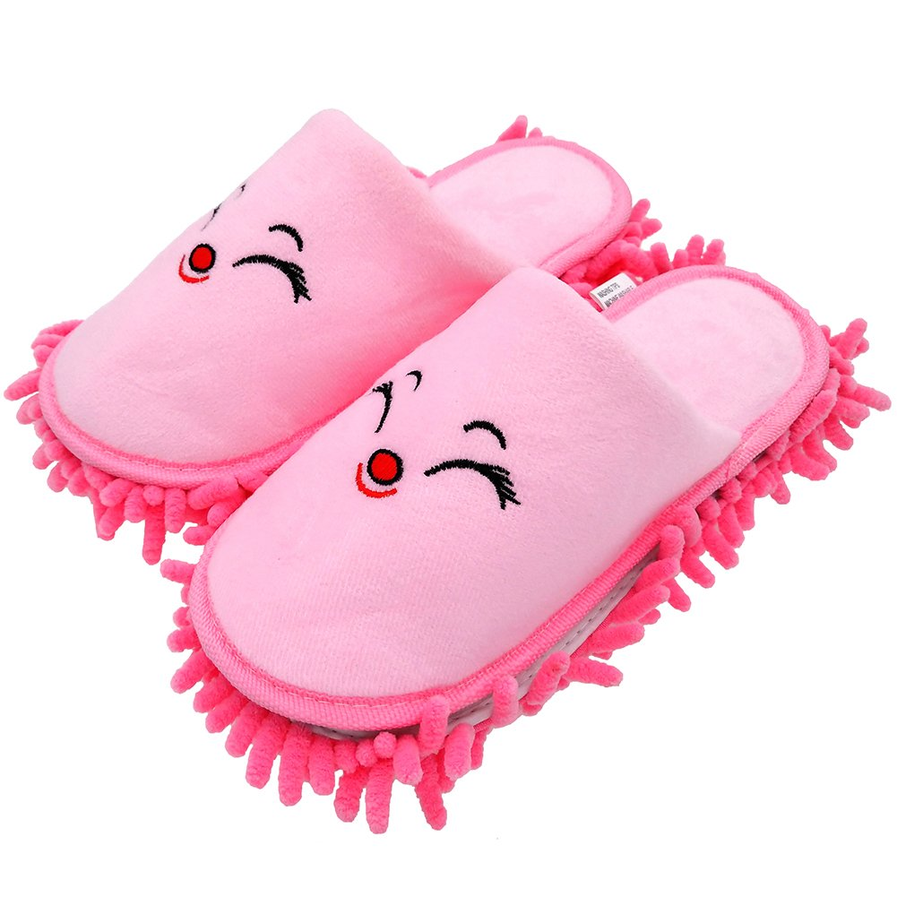 Selric [Bear Image] Super Chenille Microfiber Washable Mop Slippers Shoes for Kids, Floor Dust Dirt Hair Cleaner, Multi-sizes & Multi-Colors Available 7