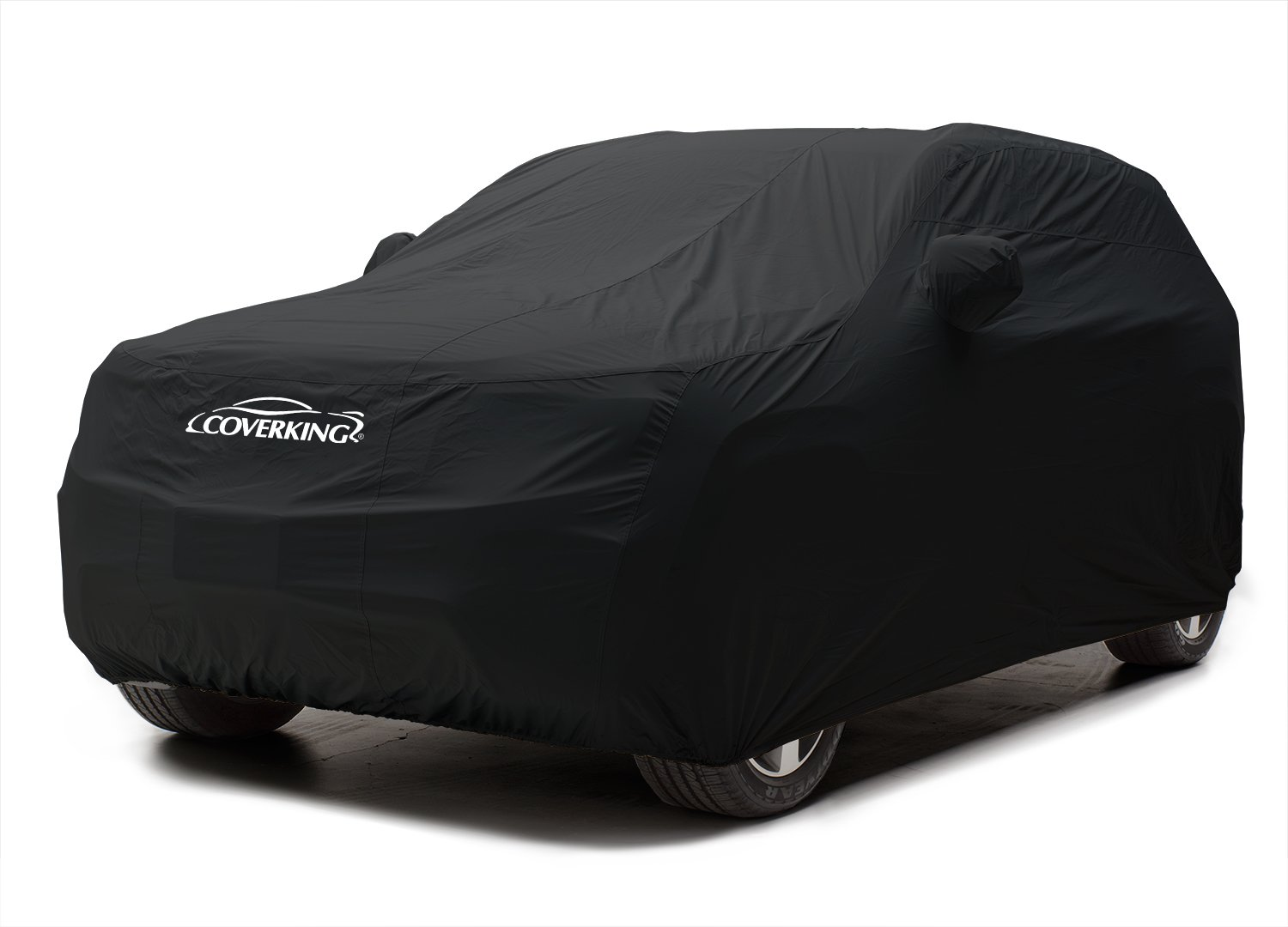 Coverking Custom Car Cover for Select Land Rover Discovery Models - Stormproof Solid (Black)