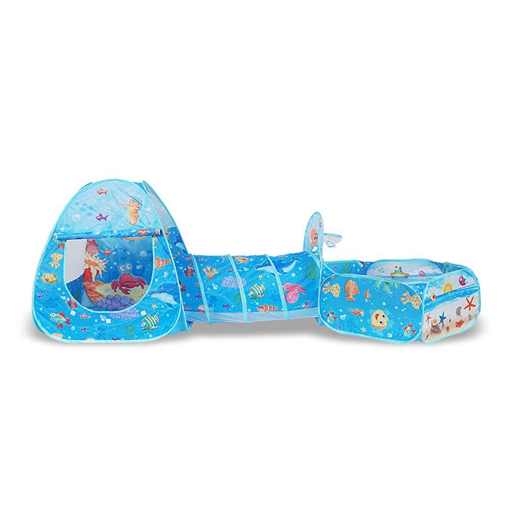 Nbibsaacy Tienda Jugar niña Pop up Multifuncional para niños Carpa de Tres Piezas Juego de Gatear en el Interior, Piscina de Bolas Juguetes interactivos Entre Padres e Hijos