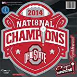 FATHEAD LLC FATHCFBOSUNC NCAA Ohio State Buckeyes 2014 Fb National Champs Teammate Logo Retail 6-Pack, Multicolor