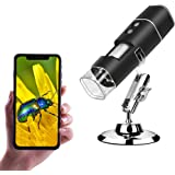 ANNLOV Wireless Digital Microscope,1080P USB Portable WiFi Mini Pocket Handheld 50X-1000X Magnification Coin Camera with…
