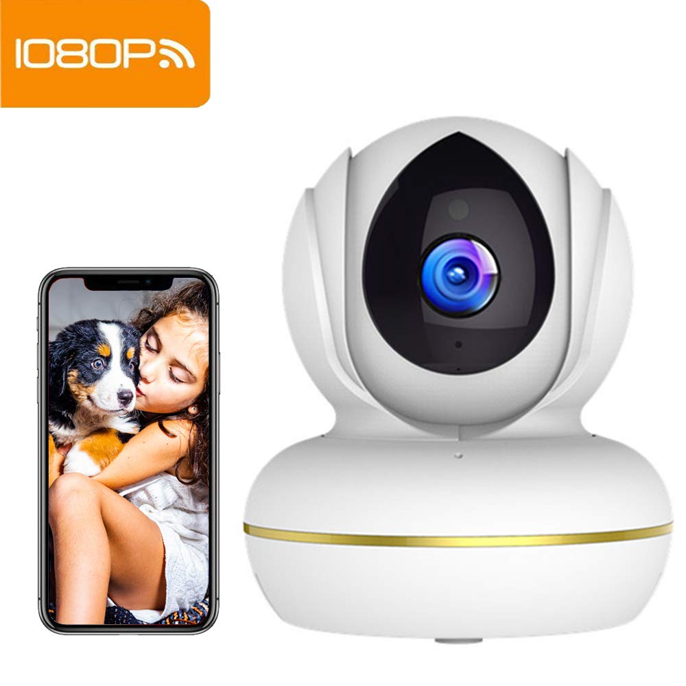 Camara Vigilancia Supereye 1080P Cámara IP, Cámara de Vigilancia WiFi Interior FHD con Visión Nocturna, Detección de Movimiento, Audio de 2 Vías, ...