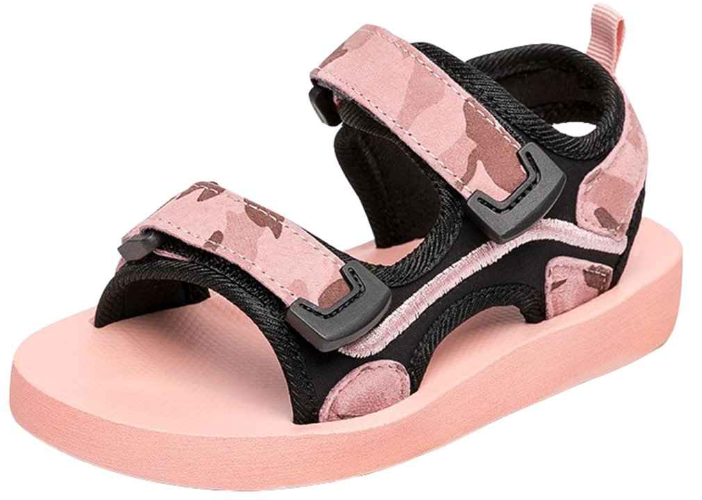 VECJUNIA Boy's Girl's Outdoor Fashion Waterproof Anti-Slip Summer Sandals (Pink, 3.5 M US Big Kid)