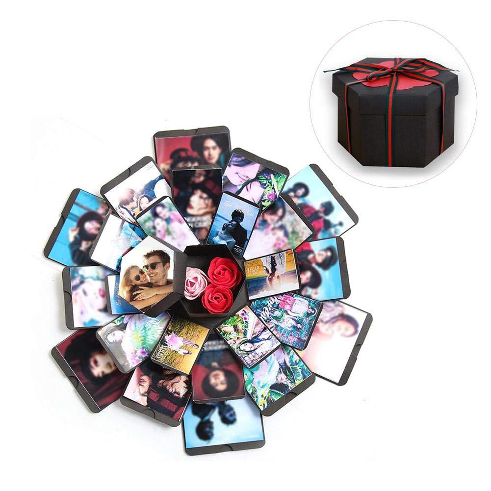 Explosion Box /Álbum De Fotos De Scrapbooking Caja De Regalo Para Cumplea/ños D/ía De San Valent/ín Aniversario Navidad Creativo DIY Hecho A Mano Sorpresa Explosi/ón Caja De Regalo Amor Memoria