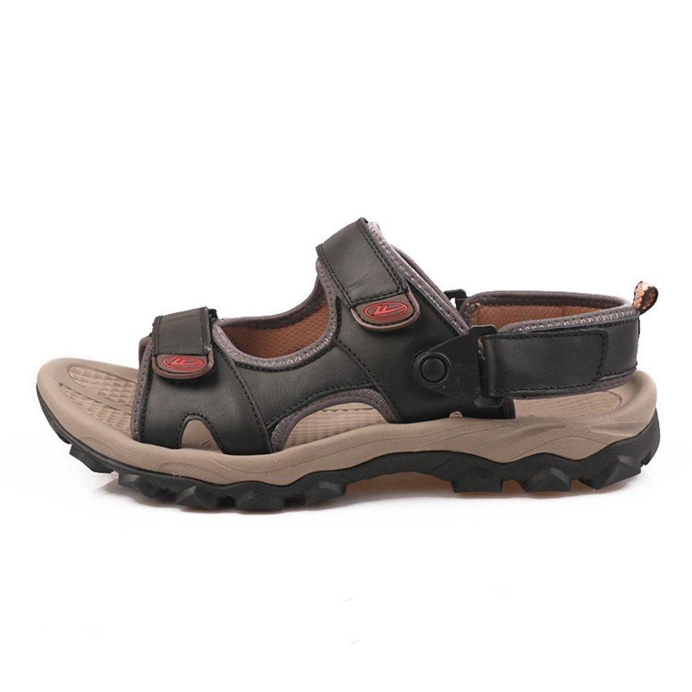Beauty leader Männer Leder Schuhe Sandalen Offene Zehe Workout Schuhe Leder Sommer Fischer Schuhe Sandalen Slipper Zwei Möglichkeiten zu tragen 4 edcb4e