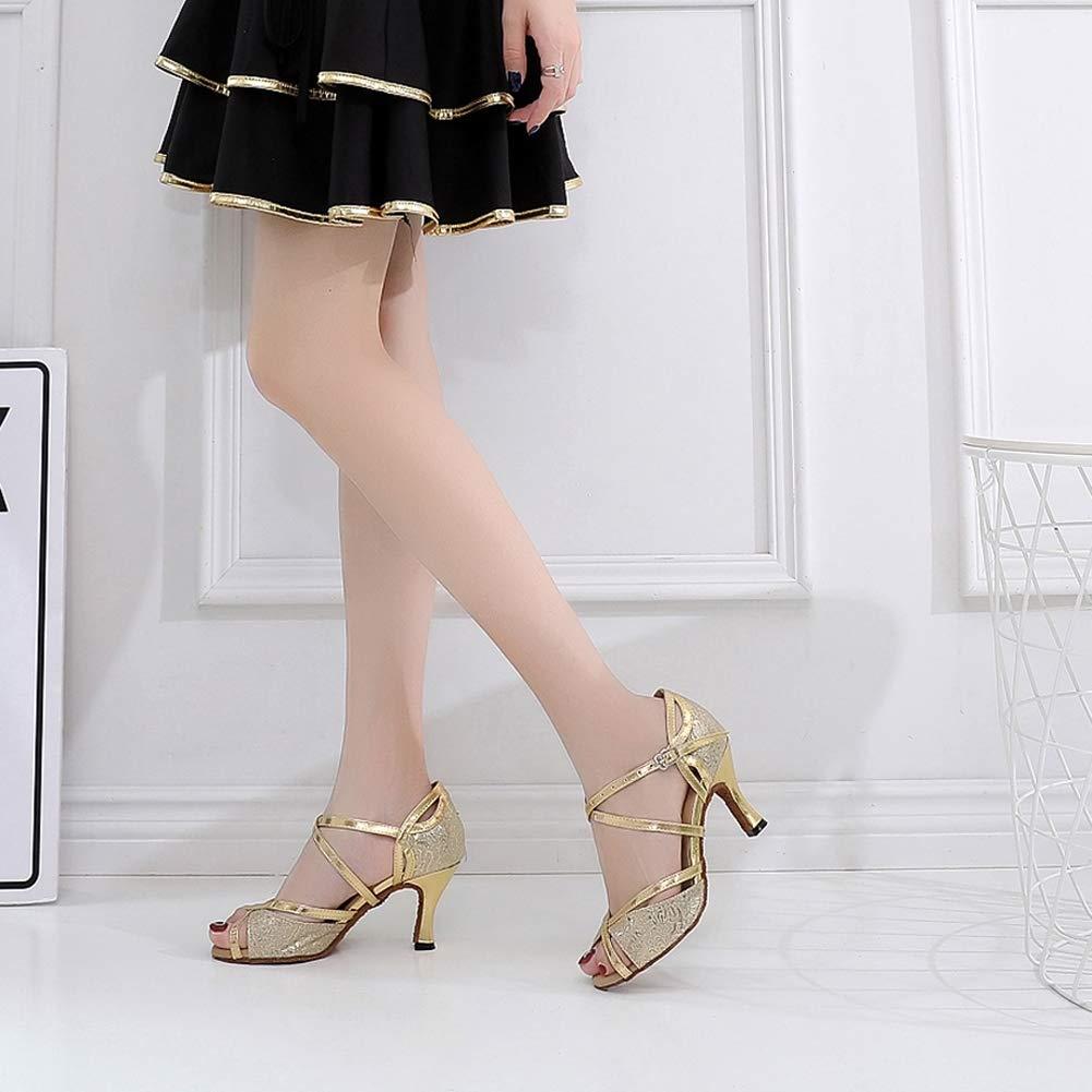 XIAOY Frauen PU Lateinische Tanzschuhe Tanzschuhe Tanzschuhe Glitter Knöchelriemen Schnalle Anpassbare  a5e11b