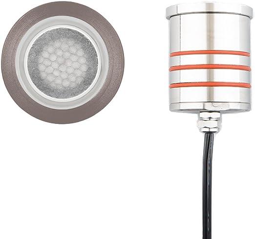 """WAC Lighting 2/"""" LED 12V IngRnd Submersible Rnd Light S Steel 2031-30SS"""