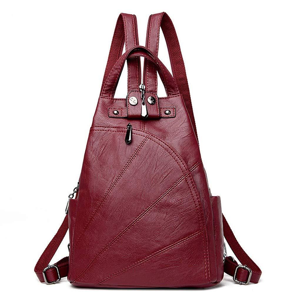 Red Wine DYR Student Bag Ladies Shoulder Bag Casual Soft leatheravel Bag Shoulder Messenger Bag Outdoor Sports Bag Can Be Wholesale, bluee
