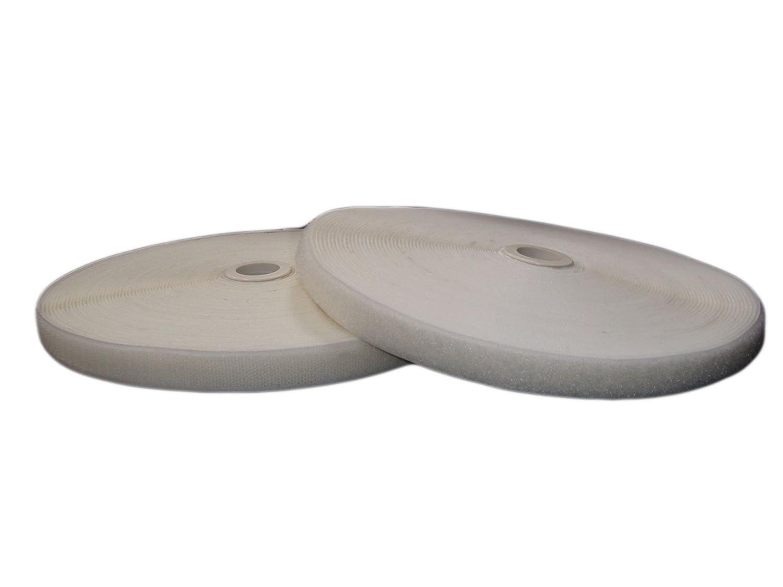 White 20mm 25 m HookandLoop StitchOn Tape 100 mm White Base Price Per Metre = 1.44 EUR