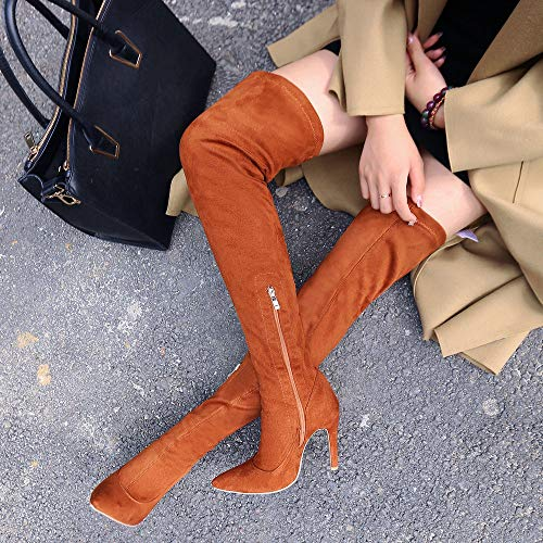YADIAO Stivali Brown Donna 1216 80 AnMengXinLing 1TYvWUndn