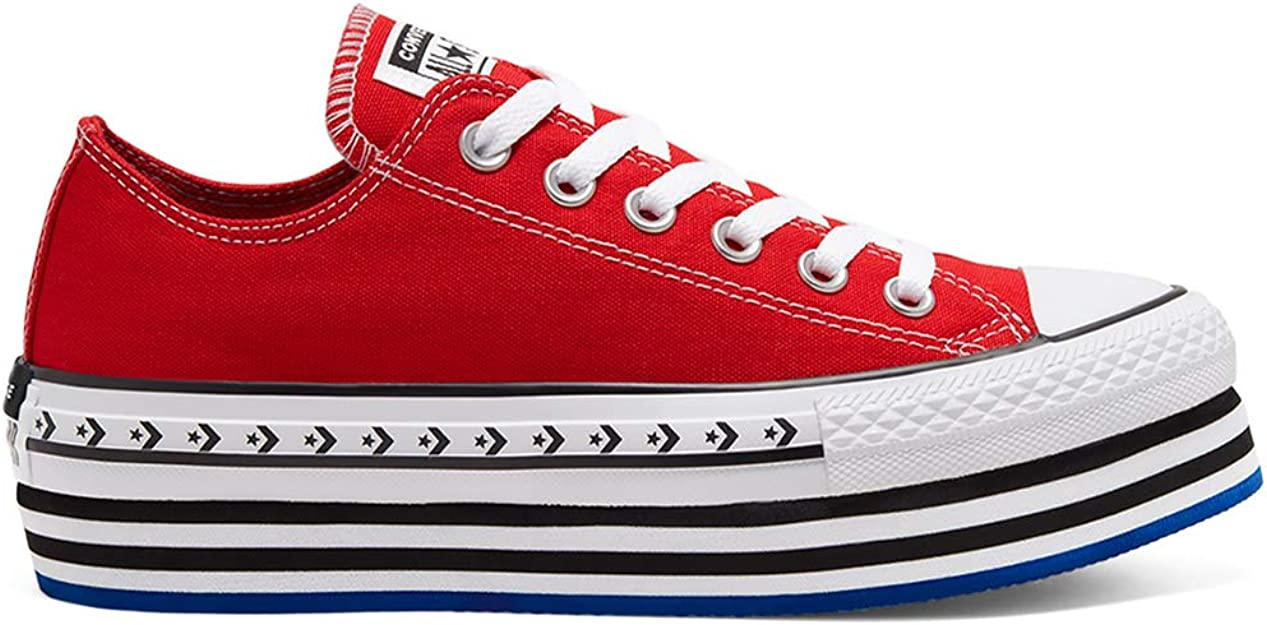 chaussure converse femme rouge