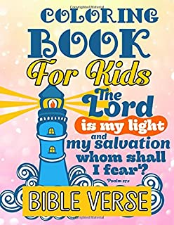 Bible Verse Coloring Book For Kids A Christian Inspirational Quotes