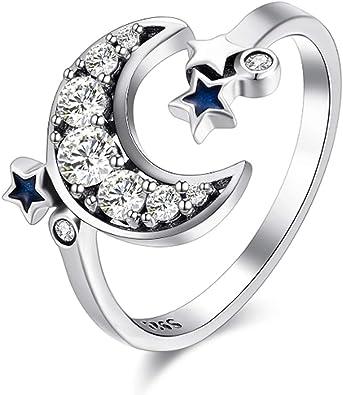 Fashion Women Wedding Open Rings Pear Shape Blue Crystal Adjustable Ring