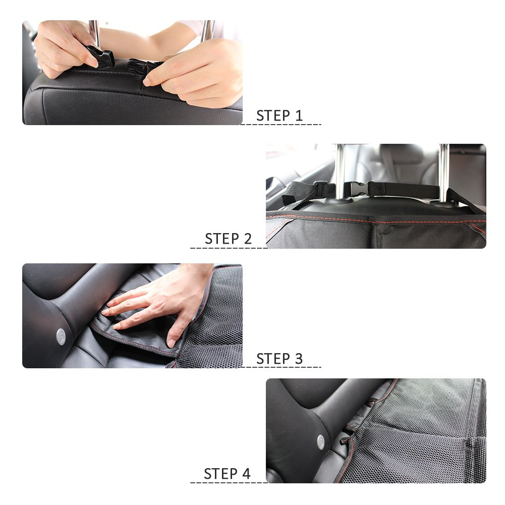 Protect Your Car from Stains /& Spills Seat Cover with Waterproof 600D Fabric /& Thickest Padding HIPPIH Carseat Seat Protectors for Child Car Car Seat Protector 2 Pack