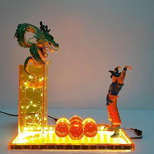 Luz de la noche Lámpara de bola de dragón Invocar el Shenron ...