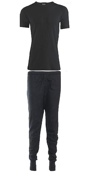 4 Colours Mens Thermal Underwear Short Sleeve Vest /& Long John Set