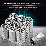 TOPINCN Thread Repair Insert Kit 10pcs Stainless