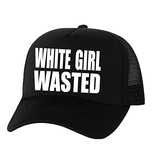 White Girl Wasted Truckers Mesh snapback hat in Black - One Size at ... d99da4bc4636