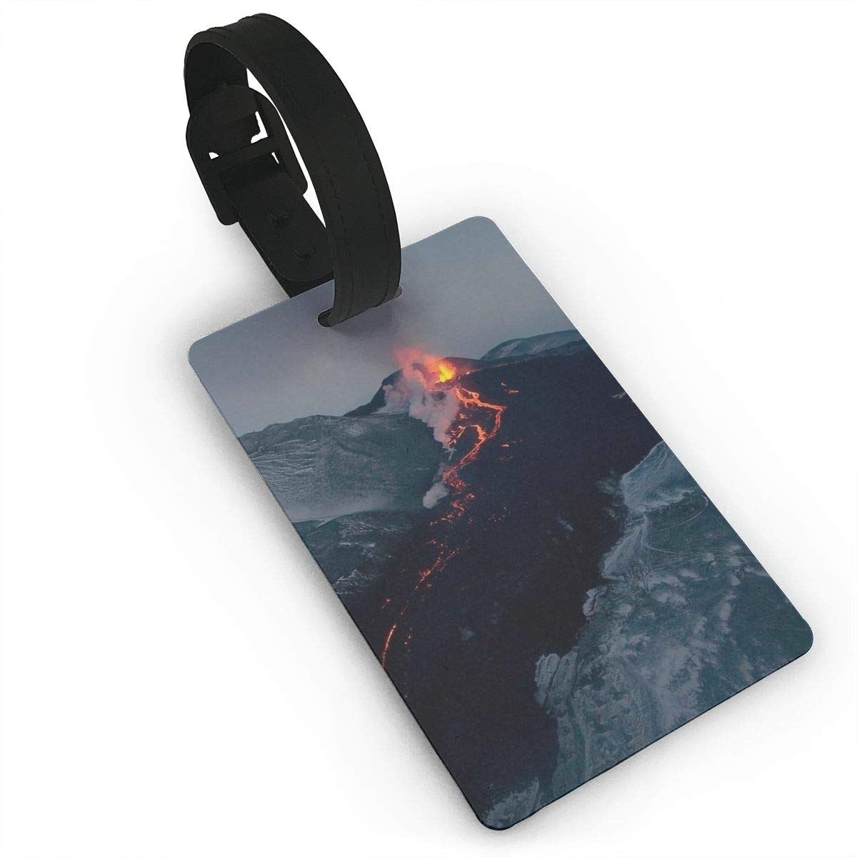 Volcano Erupting Cruise Luggage Tag For Suitcase Bag Accessories 2 Pack Luggage Tags