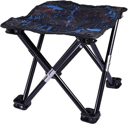 Chaise de Plage de Pêche ou activité Plein Air Tabouret Pliant pour Camping