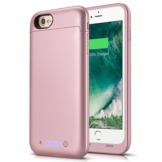 LCLEBM iphone 7 batería caso 4500 mah recargable batería ...