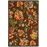 "Safavieh Chelsea Collection HK331B Hand-Hooked Brown Premium Wool Area Rug (3'9"" x 5'9"")"