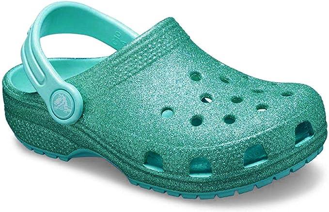 Crocs Classic Glitter Lined Kids Clog Pantolette Hausschuhe Freizeit Kinder