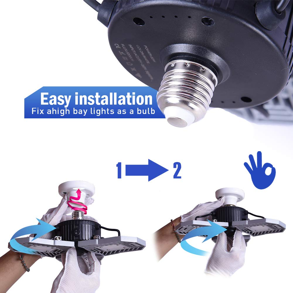 Garage Lighting,E26 Led Bulb 6000LM,Led Garage Ceiling Lights,led Garage Lights,Garage Light Bulb,led Bulb for Garage,led Shop Light,Workshop Light (Daylight, 60w''Standard'') (60w''Standard'' Daylight) by LifeLux (Image #6)
