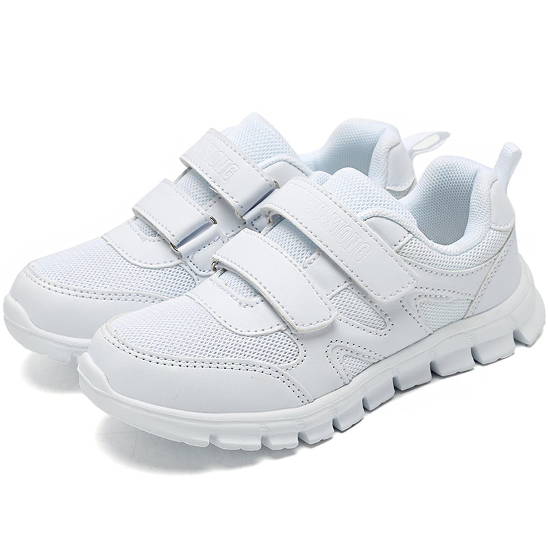 Jinouyy Boys Girls Fashion Sports Sneaker Breathable Mesh Athletic Running Shoes White Size 10.5 M US Little Kid