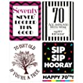Chic 70th Birthday Wine Label Pack - Birthday Party Supplies, Ideas and Decorations - Funny Birthday Gifts for Women