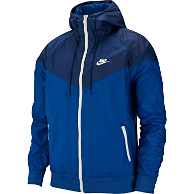 a2549ff1d Image Unavailable. Image not available for. Color: Nike Mens Windrunner  Hooded Track Jacket Indigo Force/Blue ...