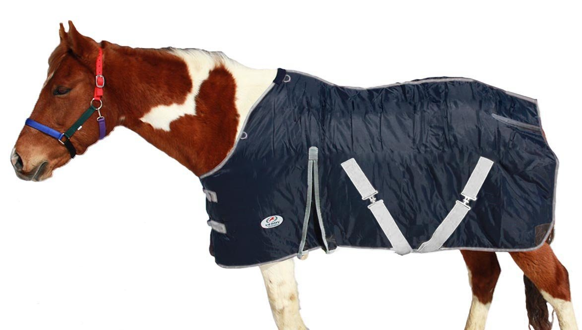 ダービーHorse Blanket 420dナイロンWestスタイル300 g & 210t裏地 ネイビー 69\
