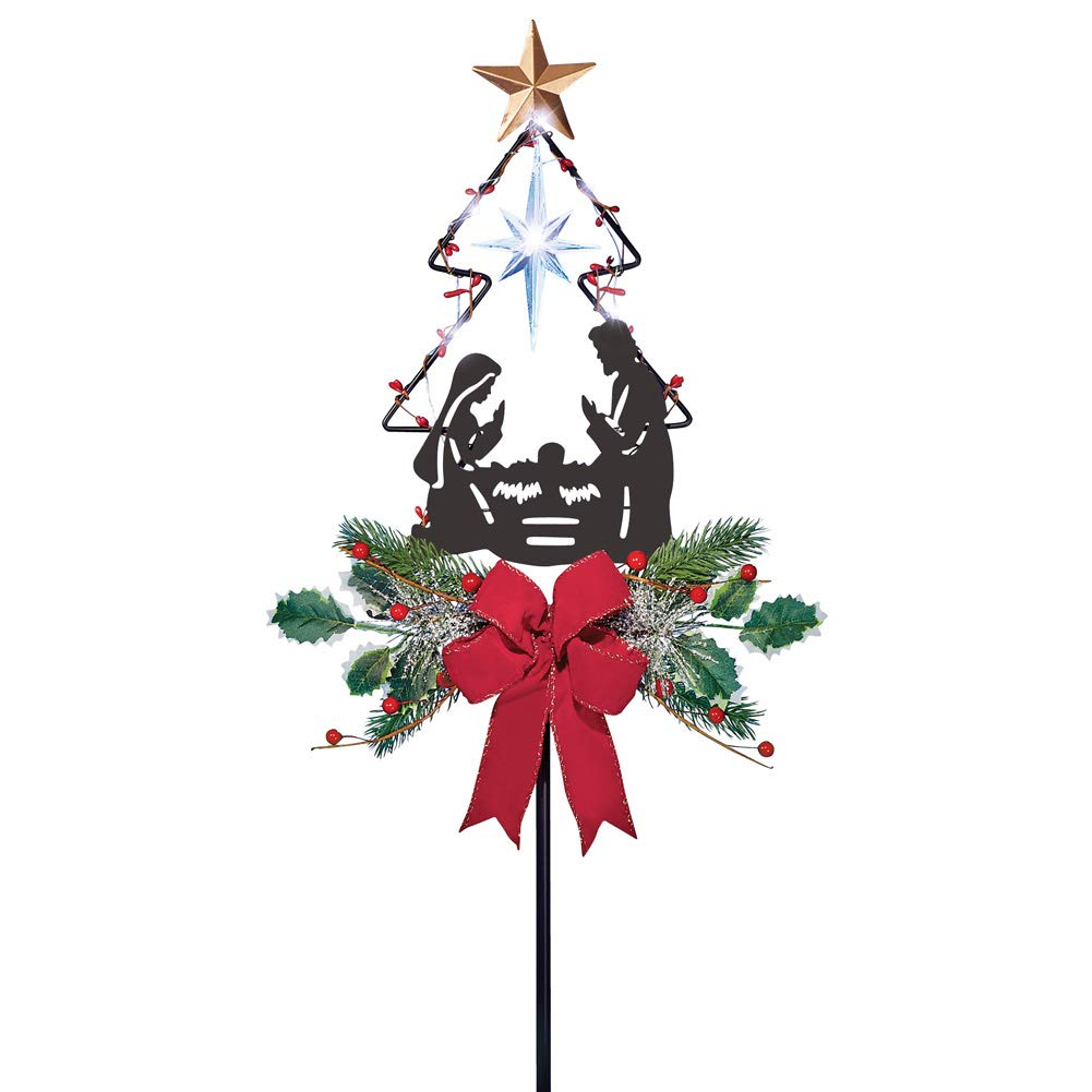 Stake Christmas Trees: Christmas Tree Garden Stake Decoration Solar Lighted